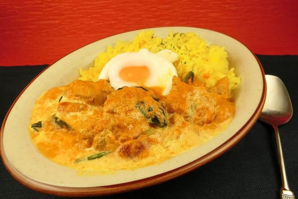 バターチキンカレー(温泉卵のせ)