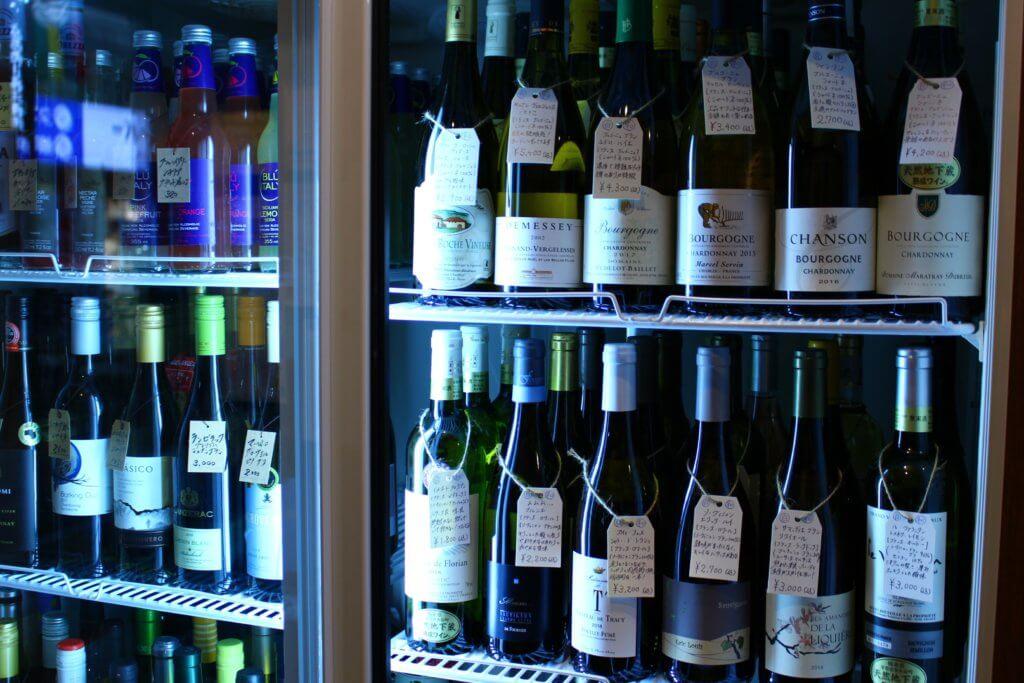 ワインが陳列された様子