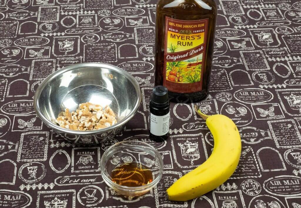 バナナケーキの味となる材料