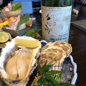 牡蠣とル・グイシュのボトル