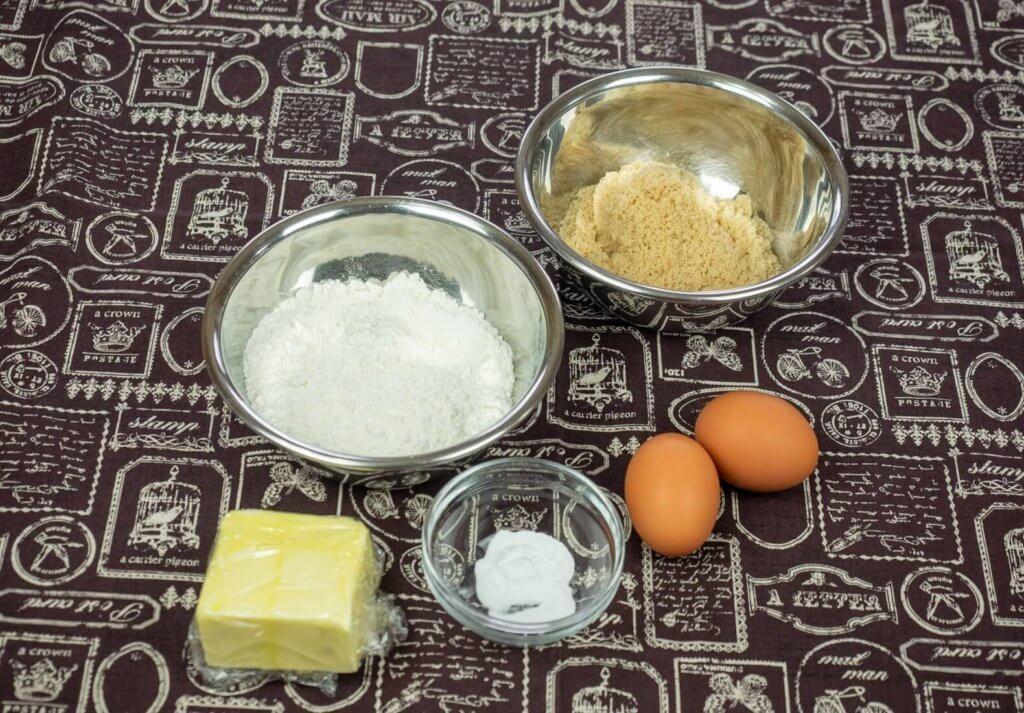 バナナケーキの生地の材料