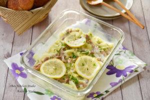 豚こまとキャベツのレモンクリーム煮