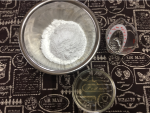 ウィークエンド(レモン風味)のグラスアロー材料