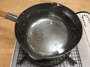 湯煎の準備