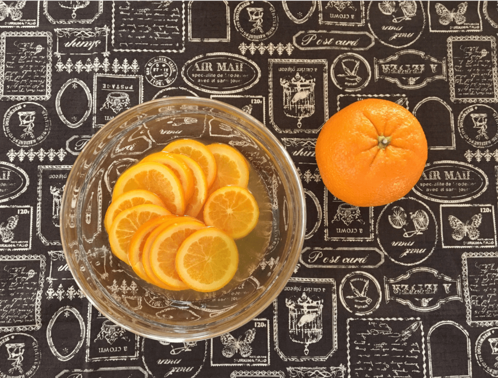 材料(オレンジのシロップ煮)