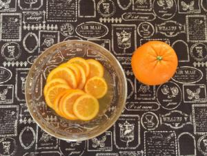 材料(オレンジのシロップ煮))