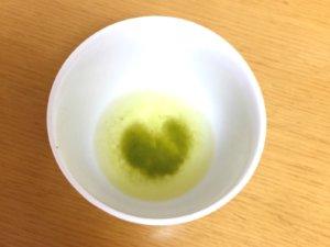 ハート型の茶殻