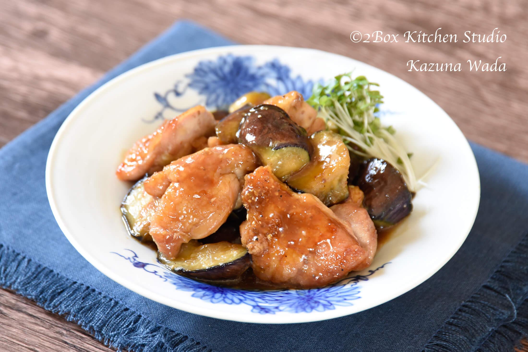 わさび山椒風味の鶏肉照り焼き完成写真