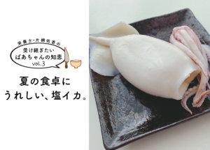【受け継ぎたいばあちゃんの知恵 vol.3】夏に食卓にうれしい、塩イカ。