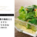 【Vege Rich(ベジリッチ)×Goo Goo Foo】美白菜の梅和えとトマトクリスタルのレシピとは?