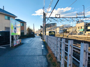 田無駅 線路沿い